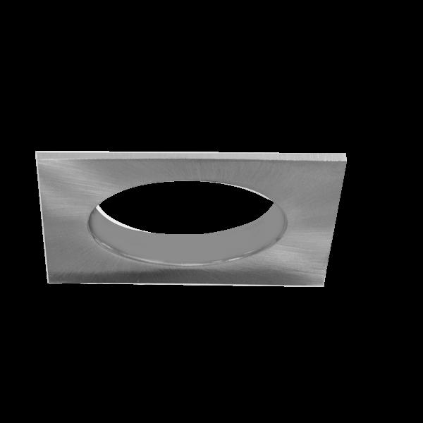 einbaurahmen f r led strahler quadratisch edelstahl optik lochausschnitt 68 mm hwh. Black Bedroom Furniture Sets. Home Design Ideas
