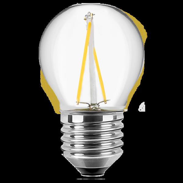 LED Filament Glühfaden Tropfen 1 Watt warmweiß E27