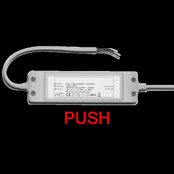 LED Netzteil Push dimmbar zur Ansteuerung des LED Panels 18 Watt