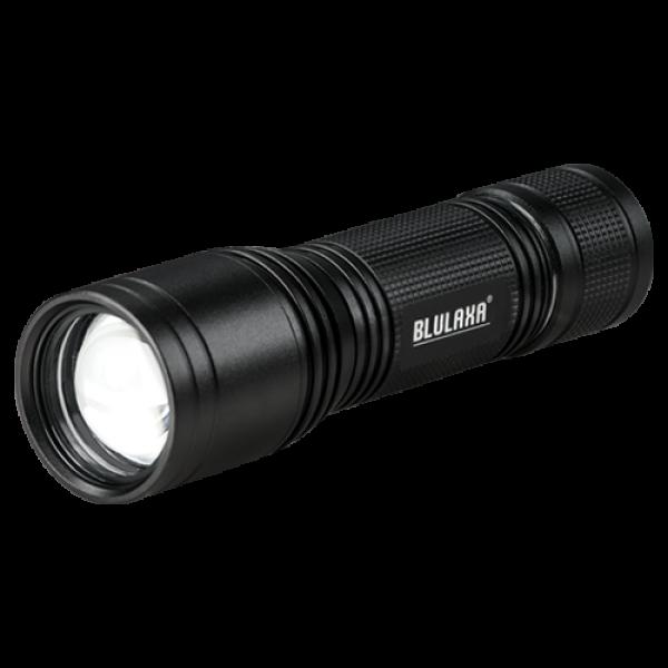 LED Taschenlampe 5 Watt, Leuchtweite 120m, 2 Schaltstufen, Signal-Blinkmodus, hochwertiges Design