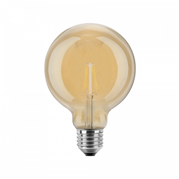 LED Filament Vintage Globelampe 95mm 4 Watt extra warmweiß E27