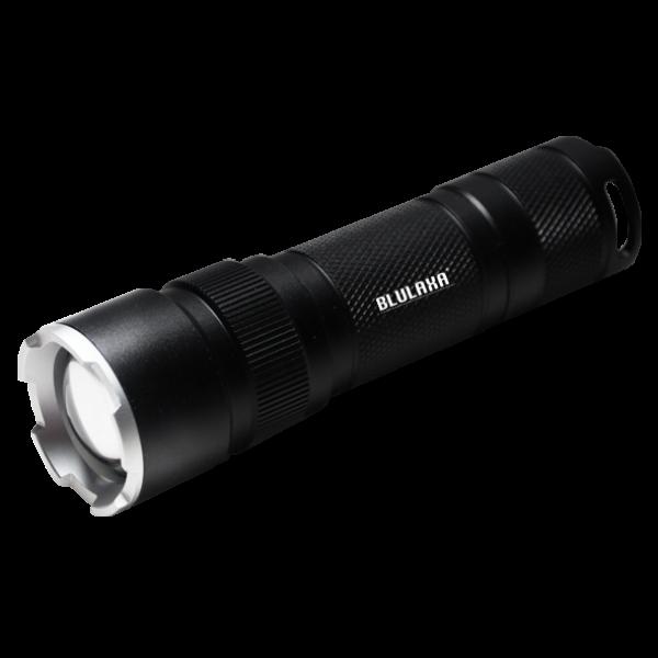 LED Taschenlampe 6 Watt, Leuchtweite 100m, 3 Schaltstufen, Signal-Blinkmodus, verstellbarer Fokus, hochwertiges Design