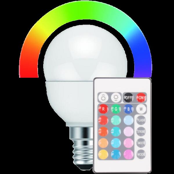 LED MiniGlobe 5 Watt RGB+WW dimmbar E14