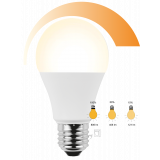 LED Lampe Birnenform 10 Watt Click Dim to warm 3in 1 warmweiß E27