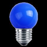 LED Deko MiniGlobe 1 Watt blau E27