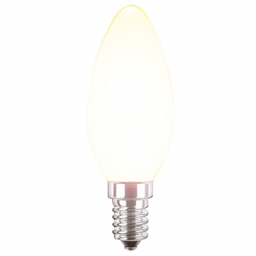 LED Filament Lampe Kerzenform 2,5 Watt warmweiß E14