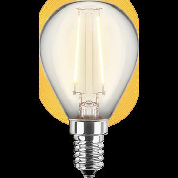 LED Filament Glühfaden Tropfen 1 Watt warmweiß E14