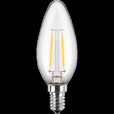LED Filament Lampe Kerzenform 2,5 Watt warmweiß E14