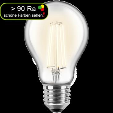 LED Filament Glühfaden Birne 7 Watt warmweiß E27 > 90 Ra