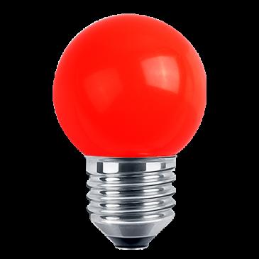 LED Deko MiniGlobe 1 Watt rot E27