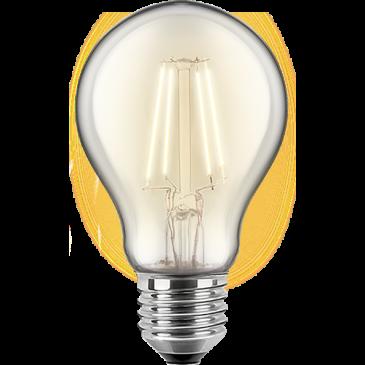 LED Filament Lampe Birmemform 5 Watt warmweiß E27