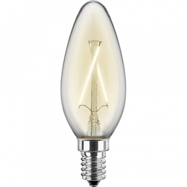 LED Filament Glühfaden Kerze 2 Watt warmweiß E14