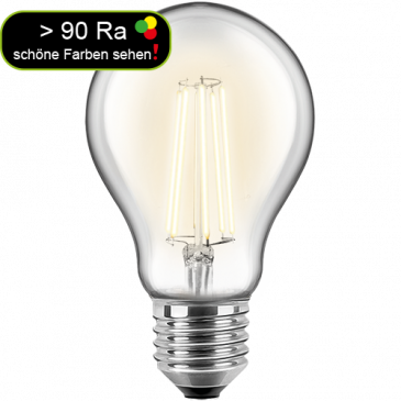 LED Filament Glühfaden Birne 10 Watt warmweiß E27 > 90 Ra