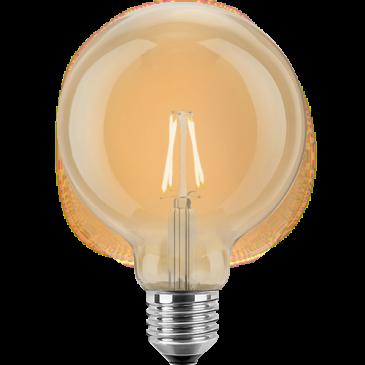 LED Filament Vintage Globelampe 125mm 4 Watt extra warmweiß E27