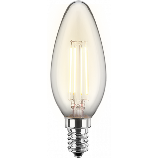 LED Filament Glühfaden Kerze 5 Watt warmweiß dimmbar E14