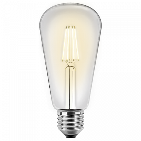 LED Filament Edison Lampe Birnenform ST64 4 Watt warmweiß E27