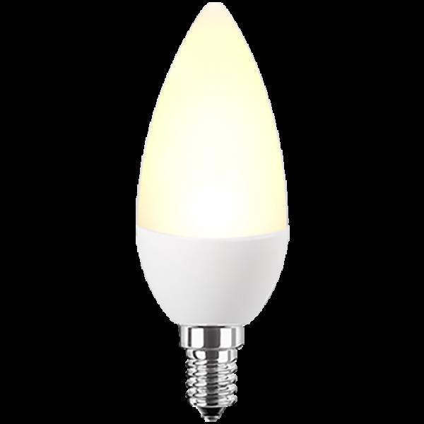 LED Lampe Kerzenform 5 Watt warmweiß dimmbar E14