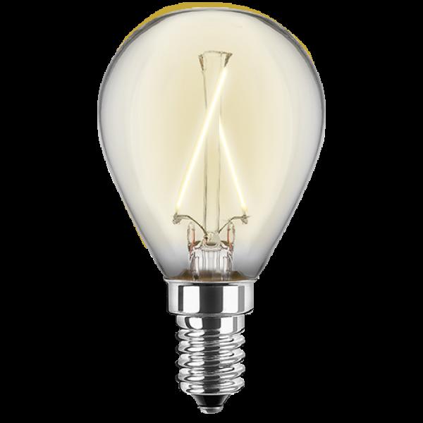 LED Filament Lampe Tropfenform 2,5 Watt warmweiß E14