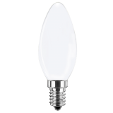 LED FLED Filament Lampe Kerzenform 4,5 Watt neutralweiß E14