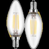LED Filament Lampe kerzenform 4,5 Watt warmweiß promotion Doppelpack E14