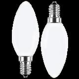 LED Filament Glühfaden Kerze 4 Watt warmweiß Promotion Doppelpack E14