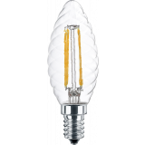 LED Filament Lampe Kerzenform gedreht 4,5 Watt  warmweiß E14