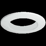 Einbaurahmen für LED Strahler, rund, glänzend weiß, Lochausschnitt 68 mm