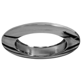 Einbaurahmen für LED Strahler, rund, Chrom-Optik, Lochausschnitt 68 mm
