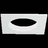 Einbaurahmen für LED Strahler, quadratisch, glänzend weiß, Lochausschnitt 68 mm
