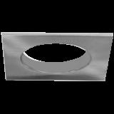 Einbaurahmen für LED Strahler, quadratisch, Edelstahl-Optik, Lochausschnitt 68 mm