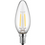 LED Filament Lampe Kerzenform 2 Watt warmweiß E14