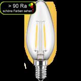 LED Filament Lampe Kerzenform 4,5 Watt warmweiß E14 > 90 Ra