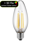 LED Filament Glühfaden Kerze 4,5 Watt warmweiß E27 > 90 Ra