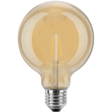 LED Filament Vintage Globelampe 125mm 4 Watt extra warmweiß E27