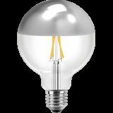 LED Filament Vintage Globelampe 125mm 8 Watt warmweiß E27