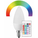 LED Lampe Kerzenform 5 Watt RGB+WW dimmbar E14