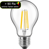 LED Filament Lampe Birnenform 7 Watt warmweiß E27 > 90 Ra