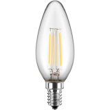 LED Filament Lampe Kerzenform 4,5 Watt warmweiß E14