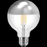 LED Filament Vintage Globelampe 125mm 7 Watt warmweiß E27