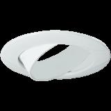 Einbaurahmen für LED Strahler mit verstellbarem Winkel, rund, glänzend weiß, Lochausschnitt 68 mm