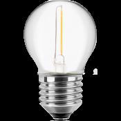 LED Filament Lampe MiniGlobe 1,4 Watt warmweiß E27