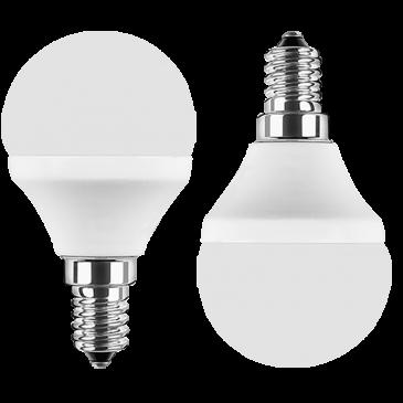 LED MiniGlobe 5 Watt warmweiß Promotion Doppelpack E14