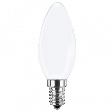 LED Filament Lampe Kerzenform 4,5 Watt kaltweiß E14