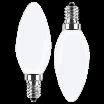 LED Filament Lampe Kerzenform 4 Watt warmweiß Promotion Doppelpack E14