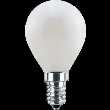 LED Filament Lampe MiniGlobe 4,5 Watt warmweiß opal E14