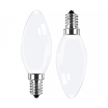 LED Filament Lampe Kerzenform 4,5 Watt WW Doppelpack
