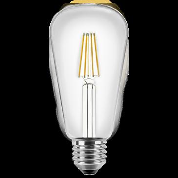 LED Filament Glühfaden Edison Birne ST64 4 Watt warmweiß E27