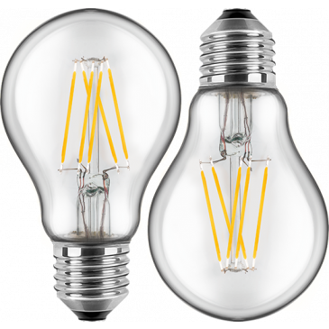 LED Filament Lampe Birnenform 7 Watt warmweiß Promotion Doppelpack E27