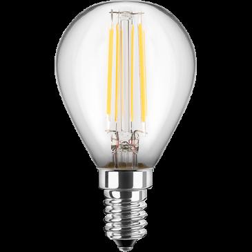 LED Filament Lampe MiniGlobe 4,5 Watt warmweiß E14