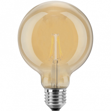 LED Filament Vintage Globelampe 125mm 2 Watt extra warmweiß E27